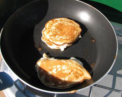 Browning pancakes